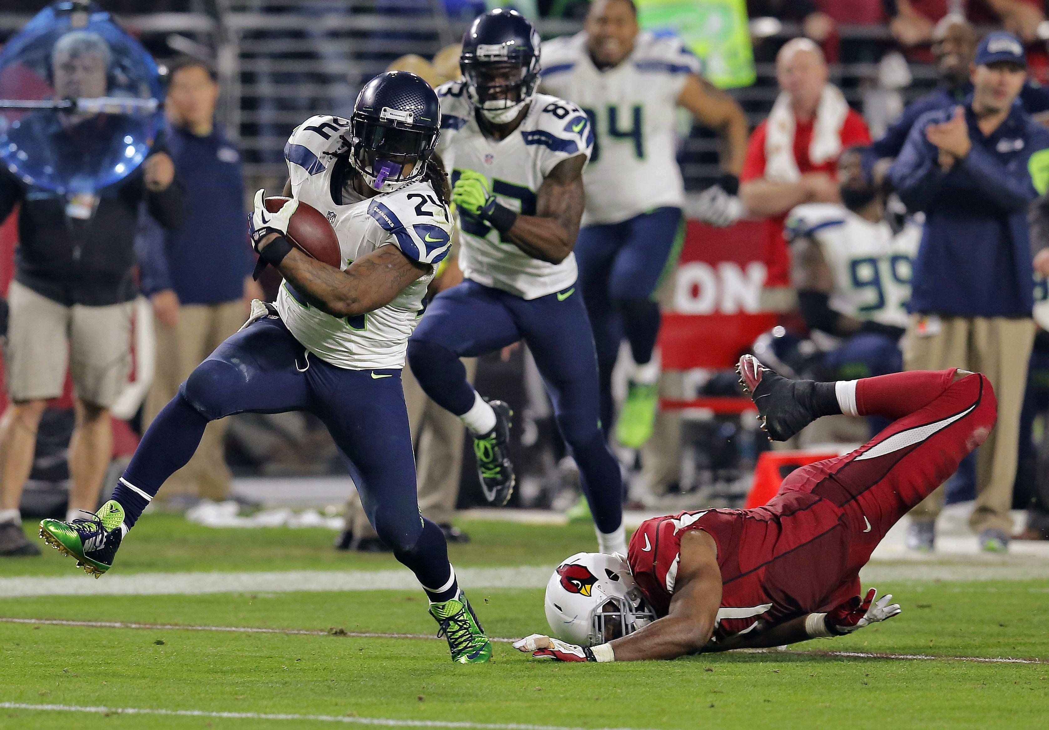 El último partido de Lynch con Seattle?