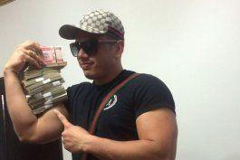 El reguetonero cubano Gilberto Martínez Súarez, un fugitivo de la justicia de EE. UU detenido en La Habana.