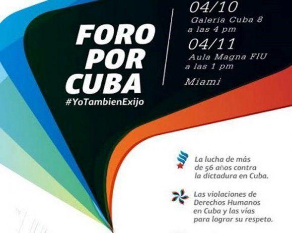 Realizarán Foro por Cuba activistas de la Isla y el exilio