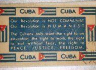 el sello postal que publico castro en 1959 y jamas se volvio a ver