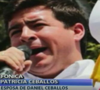 Habló en exclusiva la esposa de Daniel Ceballos: Arresto domiciliario de mi esposo es político