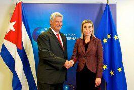 Miguel Díaz Canel y Federica Mogherini