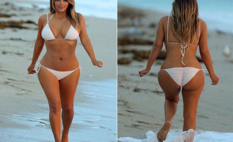 El desnudo total de Kim Kardashian en su cuenta de Twitter