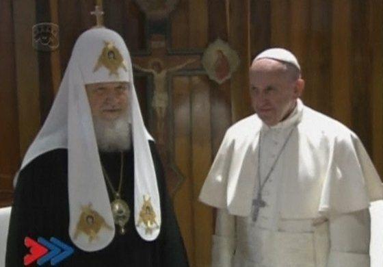 Papa Francisco y patriarca de la Iglesia Ortodoxa rusa realizan su histórico y polémico encuentro en la Habana