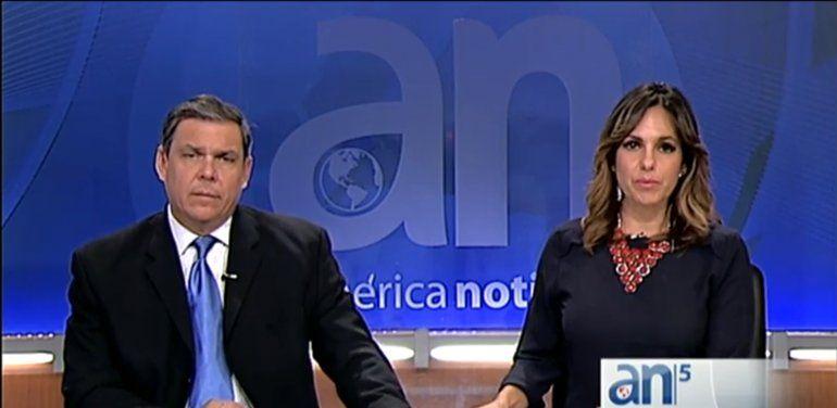 Yossie Galindo y Juan Manuel Cao celebran décimo aniversario en el noticiero de América TeVé