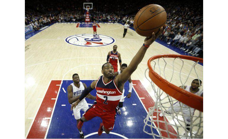 Wall comanda victoria de Wizards ante 76ers