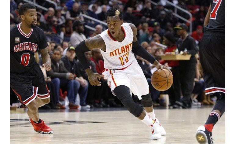 Horford anota 18, Hawks derrotan a los mermados Bulls