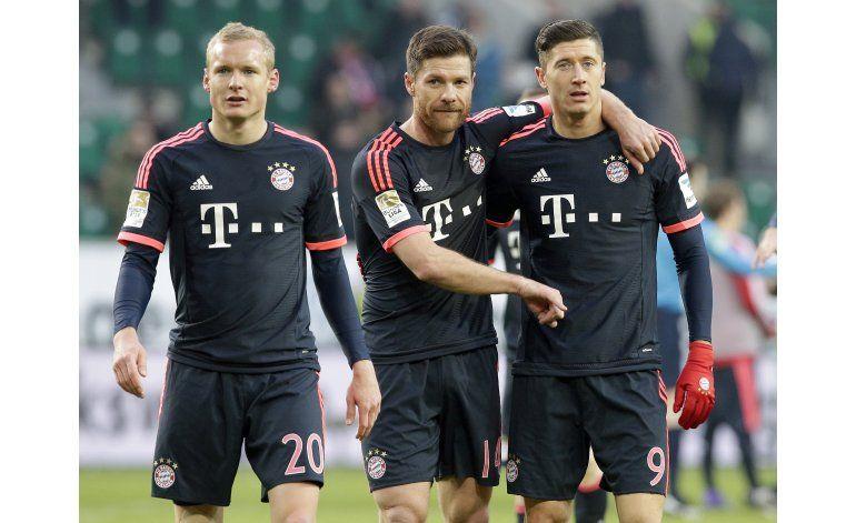 Bayern gana a Wolfsburgo y se aleja en la Bundesliga
