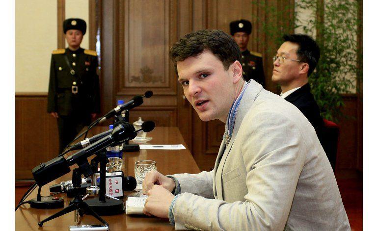 Corea del Norte presenta a estudiante de EEUU detenido