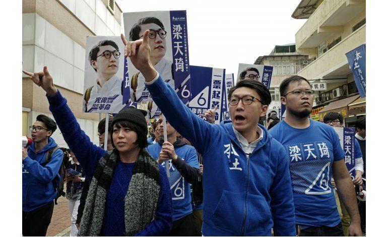 Candidato radical en Hong Kong logra buen resultado