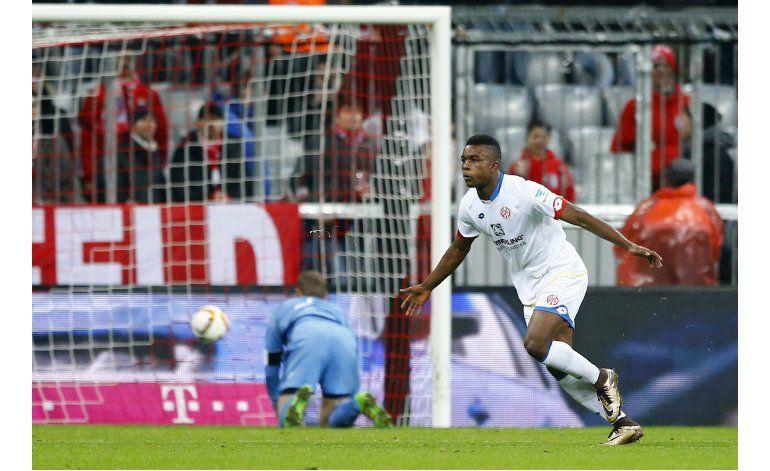 Mainz sorprende a Bayern con gol del colombiano Córdoba
