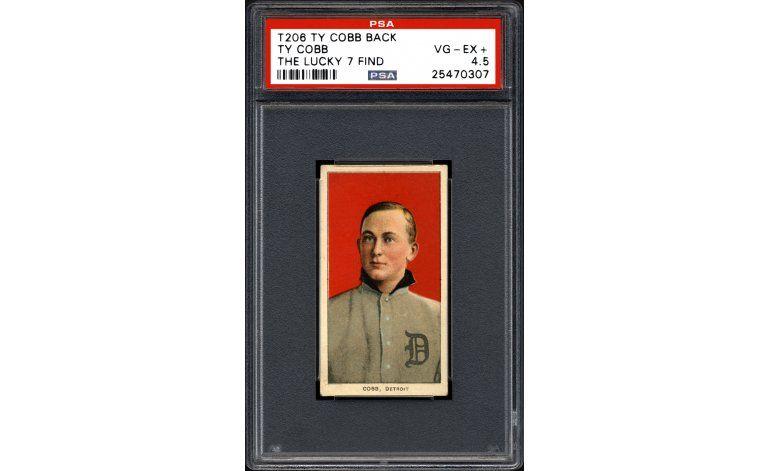 Hallan valiosas tarjetas de béisbol de Ty Cobb en California