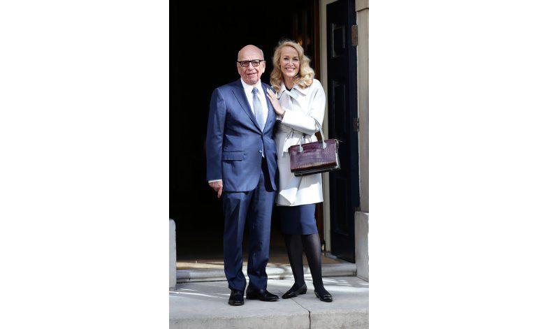 Rupert Murdoch y Jerry Hall se casaron en Londres