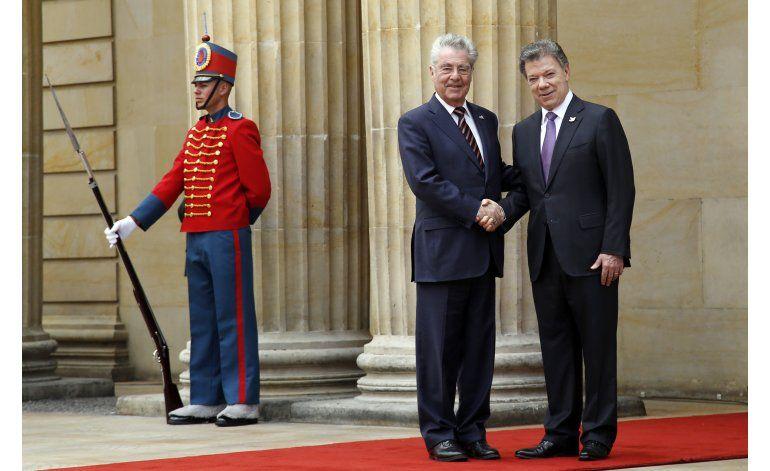 Presidente austríaco respalda en Colombia proceso de paz