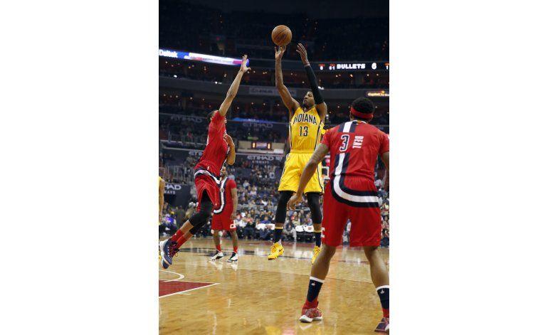 Tiros libres de George dan victoria a Pacers sobre Wizards
