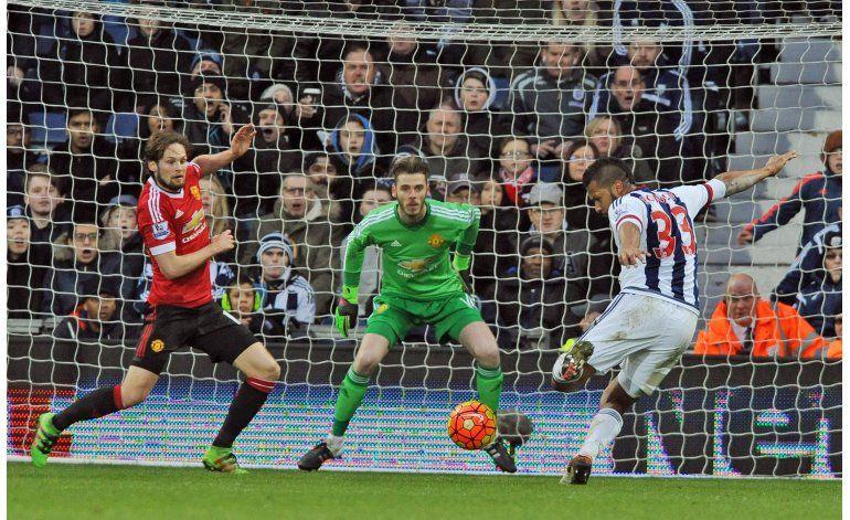 Gol de Rondón da victoria al West Brom 1-0 sobre Man United
