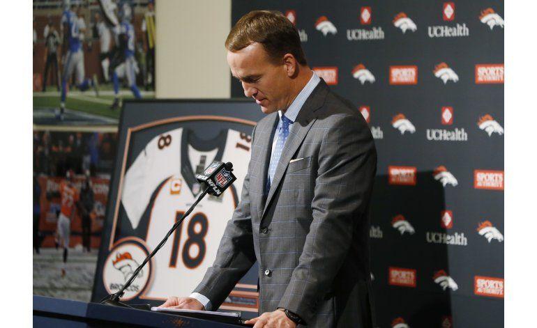 Peyton Manning anuncia su retiro