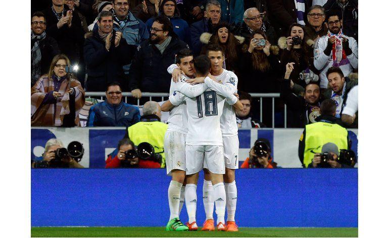 Real Madrid supera a la Roma y avanza en Liga de Campeones