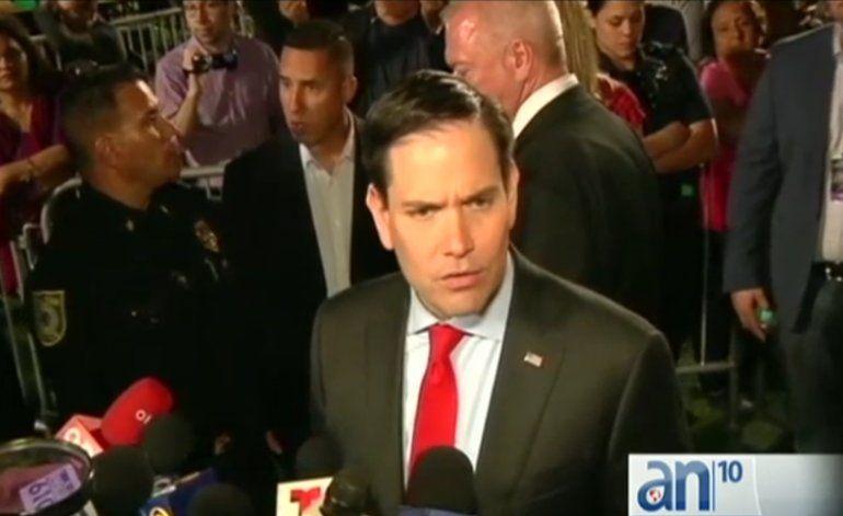 Marco Rubio hace campaña en Miami