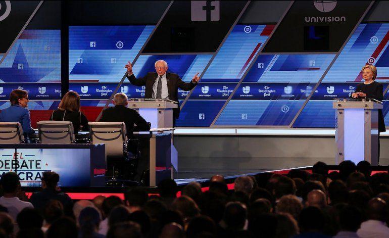 Cuba e inmigración resumen el debate entre Clinton y Sanders en Miami
