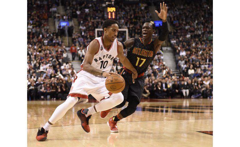 DeRozan aporta 30 puntos en victoria de Raptors sobre Hawks
