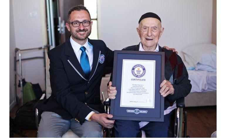 Sobreviviente del holocausto es hombre más anciano del mundo