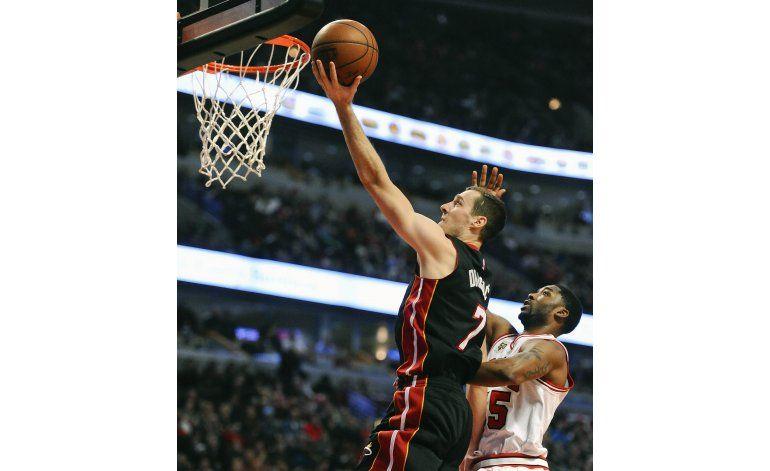 Dragic anotó 26 puntos en victoria del Heat sobre Bulls