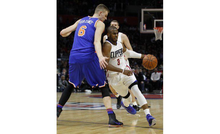 Paul y Redick lideran a Clippers en victoria sobre Knicks