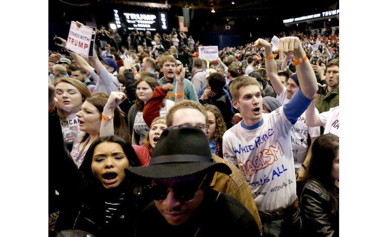 Chicago: Manifestantes celebran anulación de mitin de Trump
