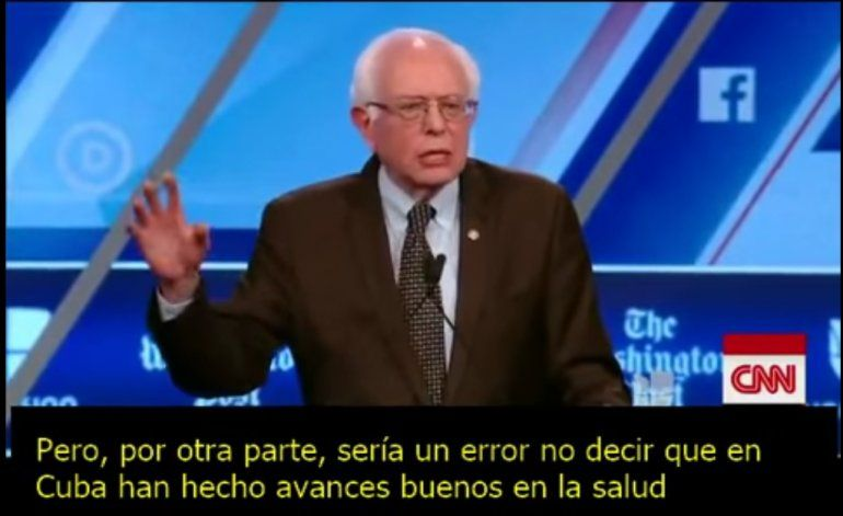 Bernie Sanders alaba la exportación de médicos cubanos