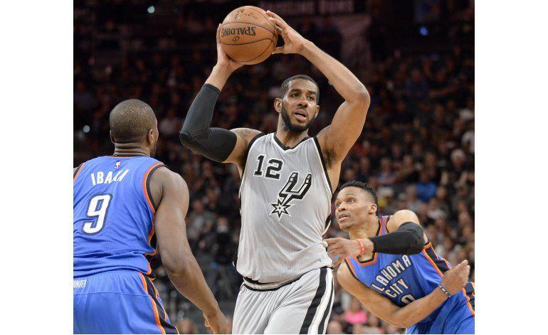 Spurs vencen al Thunder y suman 41 triunfos seguidos en casa