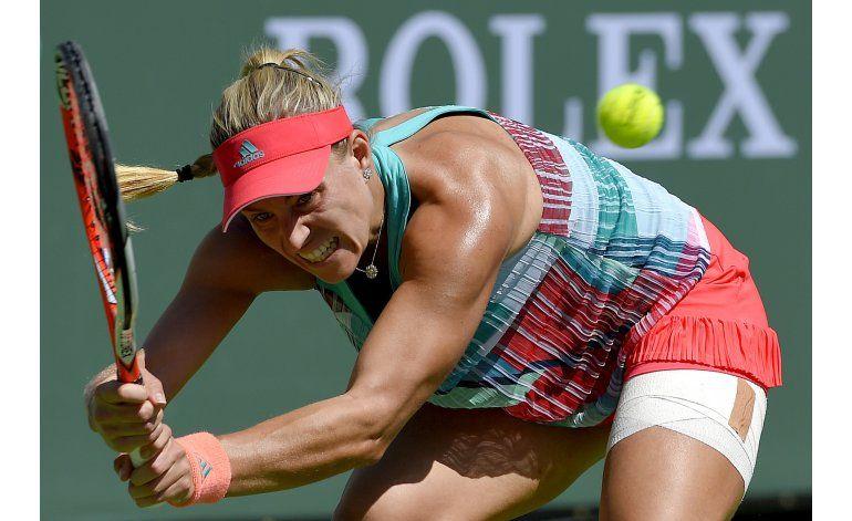 Campeona en Australia Angelique Kerber cae en Indian Wells