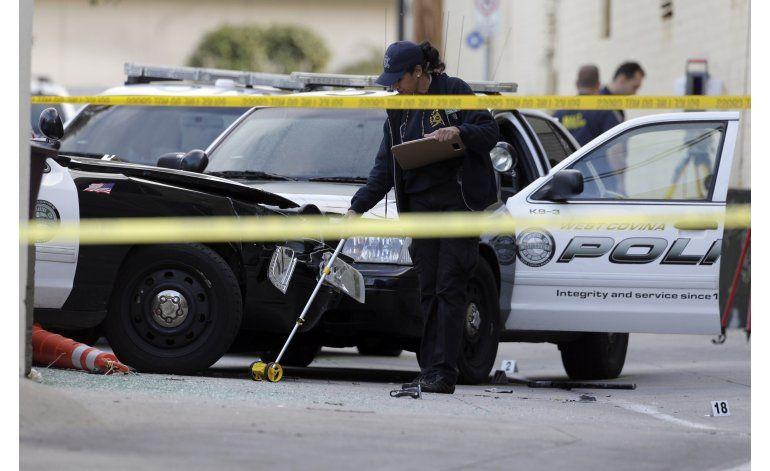 Matan a disparos a sospechoso que robó auto patrullero en LA
