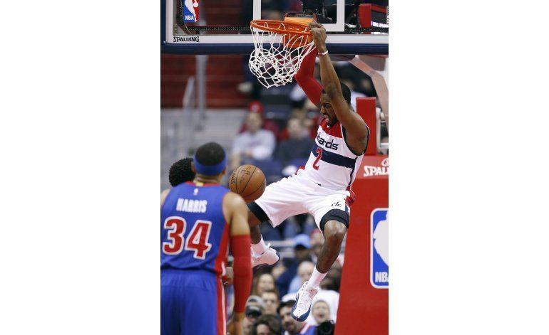 Wall y Nene encabezan paliza de Wizards ante Pistons
