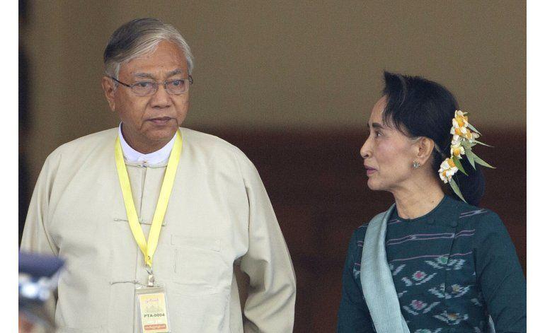 Aliado de Suu Kyi es el nuevo presidente de Mianmar