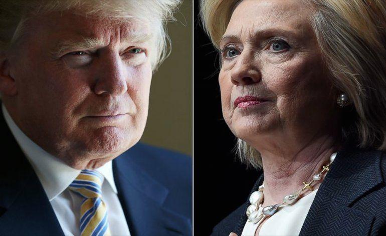 Nueva encuesta muestra a Hillary Clinton y a Donald Trump empatados