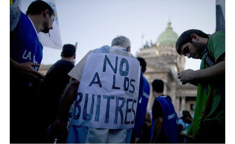 Protestan ante Congreso argentino por acuerdo con acreedores