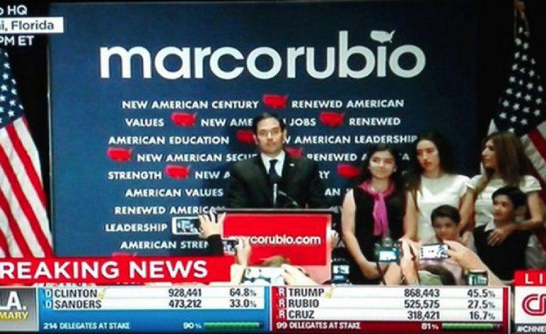 Marco Rubio se retiró de la carrera republicana a la Casa Blanca