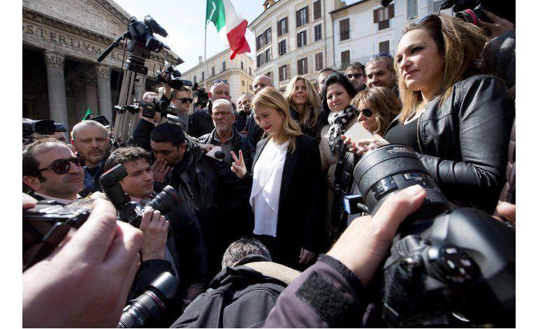 Italiana embarazada anuncia candidatura a alcaldía de Roma