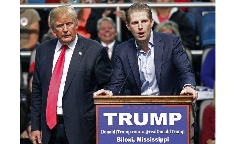 Fuente AP: Hijo de Trump recibe amenaza por correo