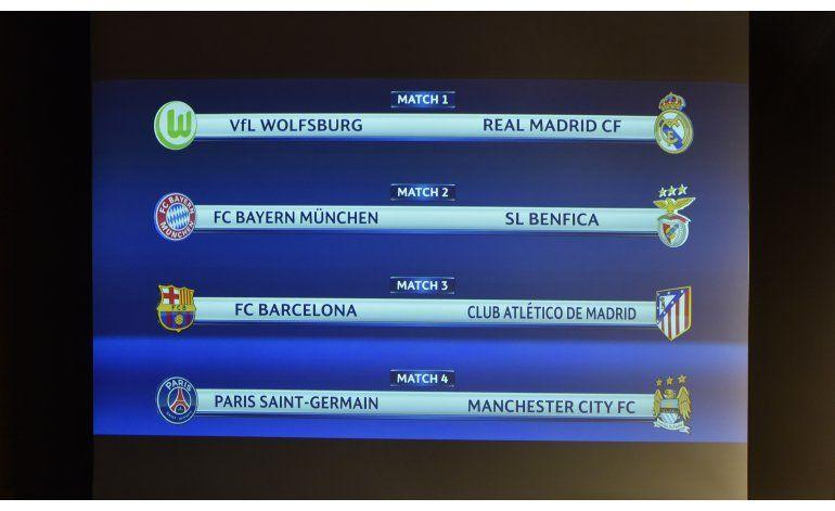 Champions: Barça-Atlético y City-PSG, choques clave en 4tos