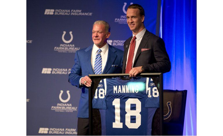 Los Colts retirarán el número de Peyton Manning