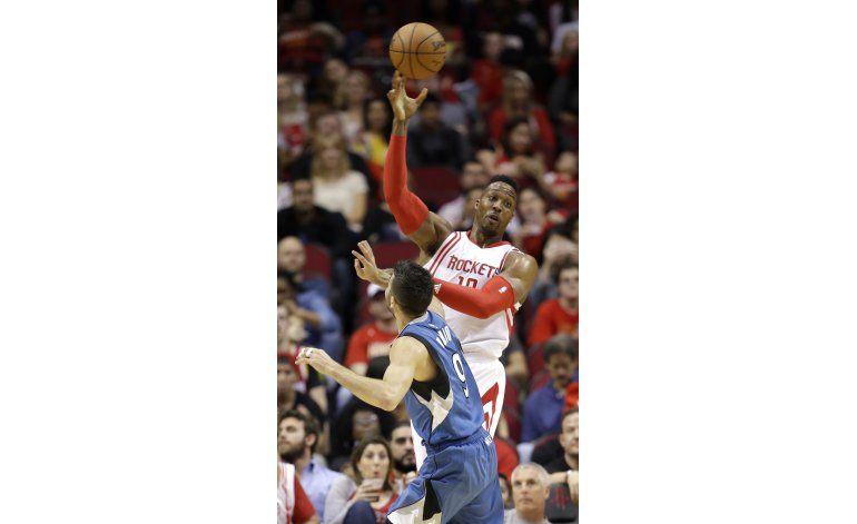 Harden comanda triunfo de Rockets ante Twolves