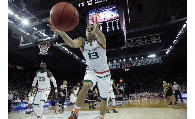 NCAA: Rodríguez conduce a Miami al Sweet 16