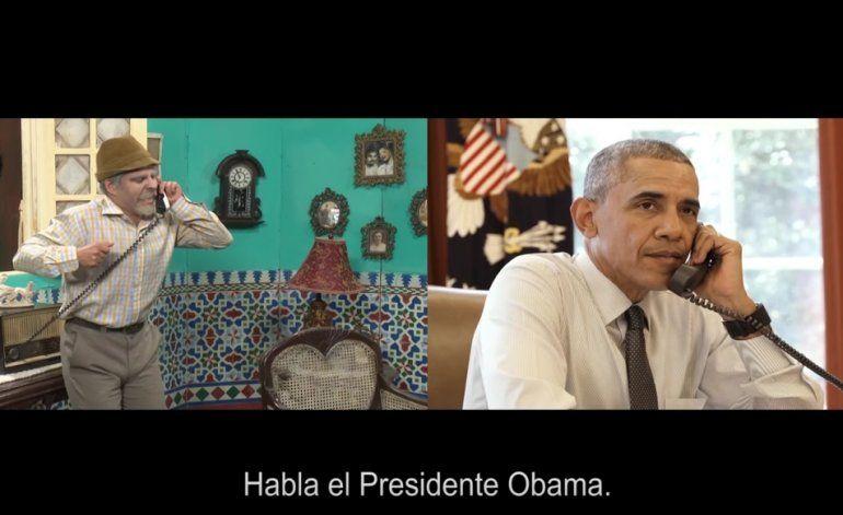 Obama aparece en video del comediante más popular de Cuba