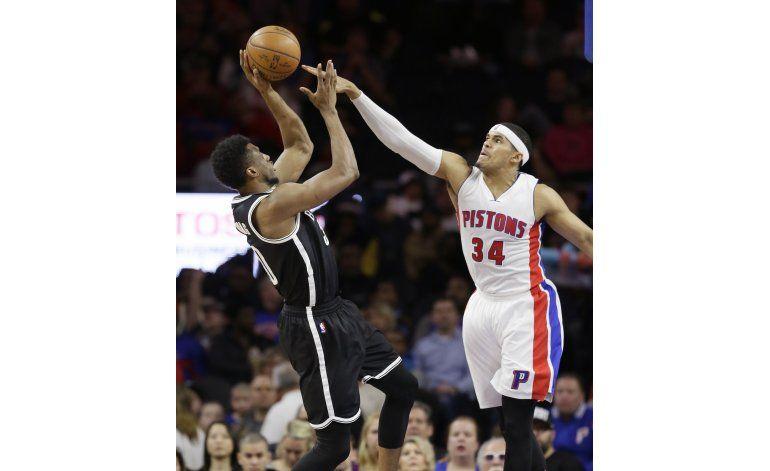 Con suplentes, Pistons ganan 115-103 a Nets