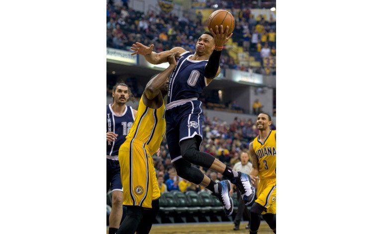 Westbrook y Durant se combinan para que OKC anule a George
