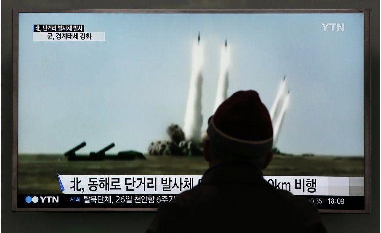 Norcorea lanza al mar 5 proyectiles de corto alcance