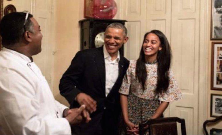 Obama se come un solomillo en el corazón de La Habana