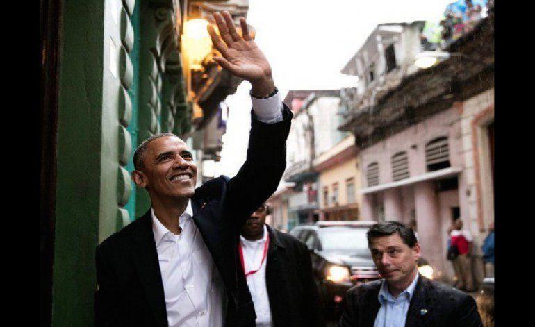 Llegada y salida de Obama a la paladar San Cristobal en Centro Habana